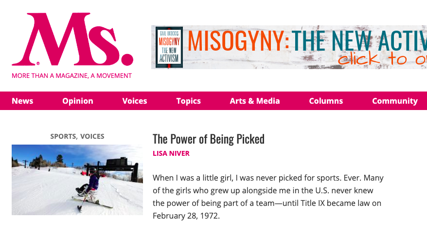 Ms Magazine The Power of Being Picked by Lisa Niver